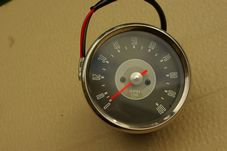 Rev counter, Tachometer ;head, magnetic, grey face, BSA A65 etc 3:1